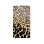 Beautiful trendy leopard faux animal print labels