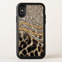 Beautiful trendy leopard faux animal print OtterBox symmetry iPhone x case
