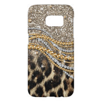 Beautiful trendy leopard faux animal print samsung galaxy s7 case