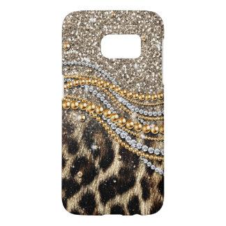 Beautiful trendy leopard faux animal print samsung galaxy s7 case