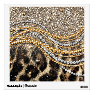 Beautiful trendy leopard faux animal print wall sticker