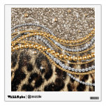 Beautiful trendy leopard faux animal print room graphics