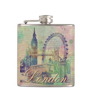 Beautiful trendy Vintage London Landmarks Flasks