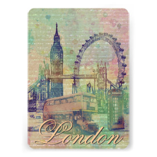 Beautiful trendy Vintage London Landmarks Announcements