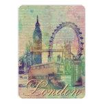 Beautiful trendy Vintage London Landmarks 5x7 Paper Invitation Card