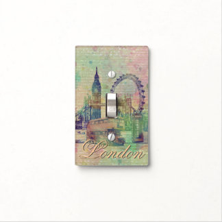 Beautiful trendy Vintage London Landmarks Switch Plate Cover