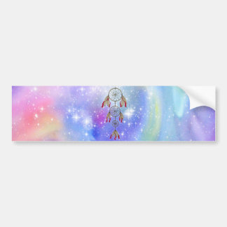 Beautiful trendy whimsical  dream-catcher feathers bumper sticker