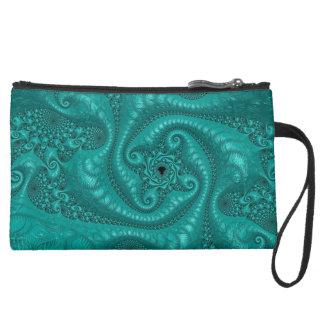 Beautiful Trippy Fractal Art Clutch Bag Wristlets