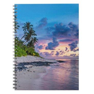 Beach Themed Beautiful Tropical Beach Bliss Spiral Notebook