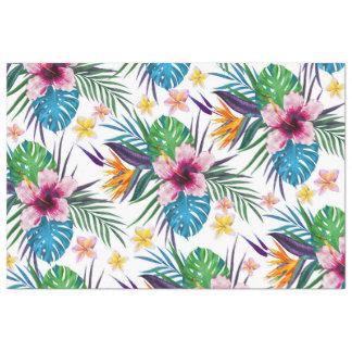 "Beautiful tropical floral paint watercolors 20"" x 30"" tissue paper"
