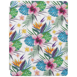 Beautiful tropical floral paint watercolors iPad smart cover
