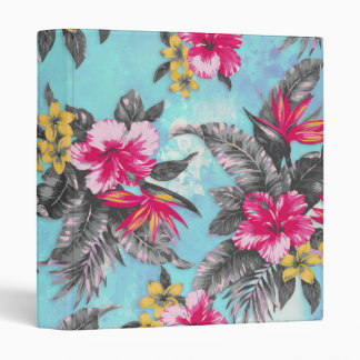 Beautiful tropical floral paint watercolours 3 ring binder