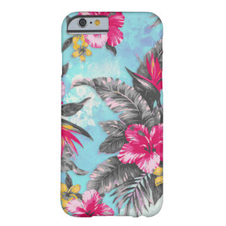 Beautiful tropical floral paint watercolours barely there iPhone 6 case
