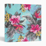 Beautiful tropical floral paint watercolours 3 ring binders