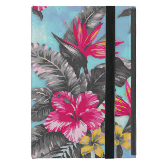 Beautiful tropical floral paint watercolours covers for iPad mini
