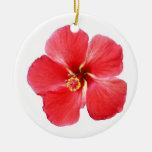 Beautiful Tropical Hibiscus Christmas Ornament