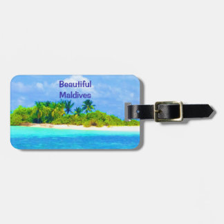 Beautiful Tropical Island in the Maldives Luggage Tag