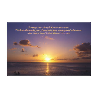 Beautiful Tropical Island Sunset on the Beach Guam Canvas Print