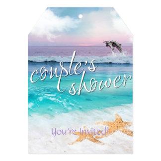 BEAUTIFUL TROPICAL OCEAN SUNRISE Couple's Shower Card