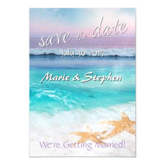 BEAUTIFUL TROPICAL OCEAN SUNRISE Save the Date Magnetic Card