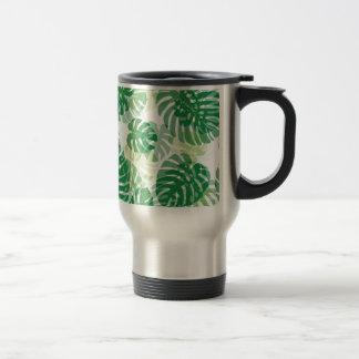 Beautiful Tropical Palm Leaves Travel Mug