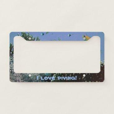 Beach Themed Beautiful Tropical Sea License Plate Frame