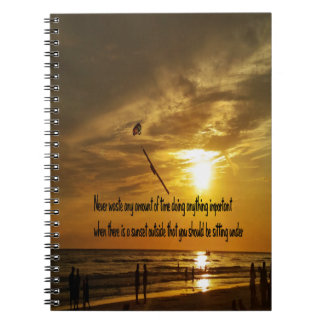 Beautiful Tropical sunset Notebook