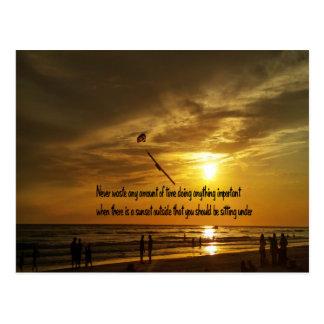 Beautiful Tropical sunset Postcard