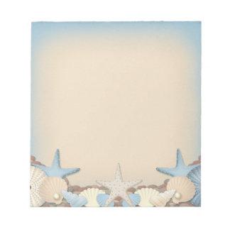 Beautiful Tropical Theme Beach Shells Note Pad