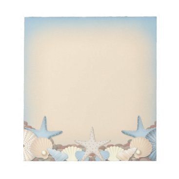 Beach Themed Beautiful Tropical Theme Beach Shells Notepad