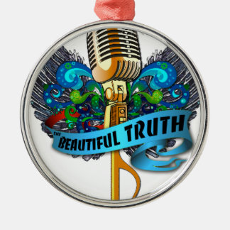Beautiful Truth Microphone and Note Metal Ornament
