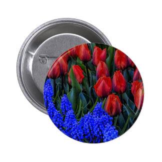 Beautiful Tulip Spring Flowers Photo Pinback Button