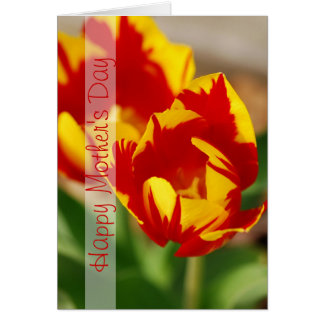 Beautiful Tulips Happy Mother Day Vertical Card