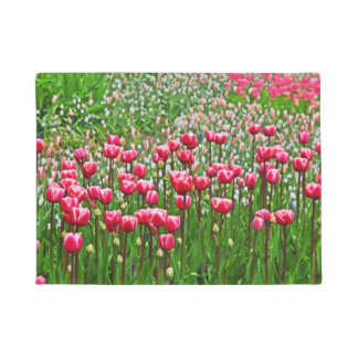Beautiful Tulips In Bloom Doormat