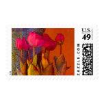 Beautiful Tulips Postage Stamp