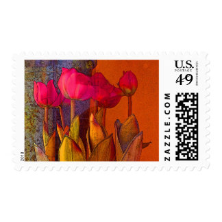 Beautiful Tulips Postage Stamp