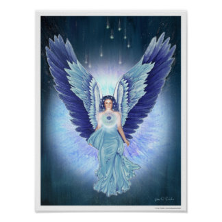 Beautiful Turquoise Angel Poster