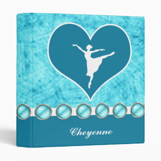 Beautiful Turquoise Dancer with Monogram Binder
