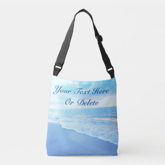 Beautiful Turquoise Personalized Beach Tote Bags