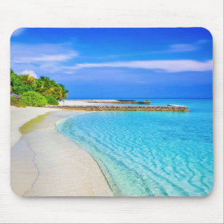 Beautiful Turquoise Sandy Beach Mouse Pad