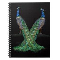 Beautiful Two Peacocks Notebook, Journal