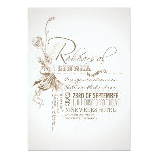 beautiful typography rehearsal dinner invitations