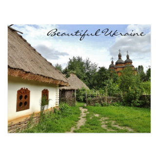 Beautiful Ukraine Postcard / Ukrainian Village