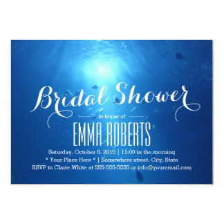 "Beautiful Under Sea Bridal Shower Invitations 5"" X 7"" Invitation Card"