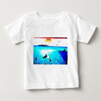 Beautiful Underwater Scene Painting Baby T-Shirt