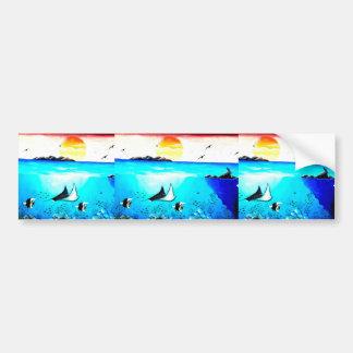 Beautiful Underwater Scene Painting Bumper Sticker