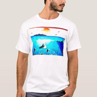 Beautiful Underwater Scene Painting T-Shirt