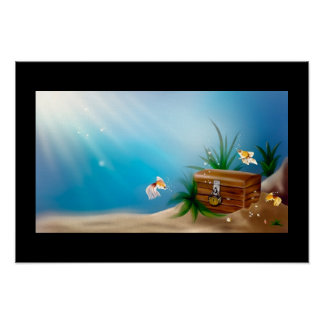 Beautiful Underwater View Poster