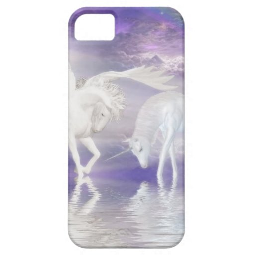Beautiful Unicorn and Pegasus Fantasy iPhone 5 Case