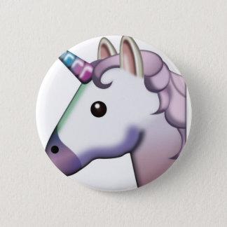 Beautiful Unicorn Emoji Pinback Button
